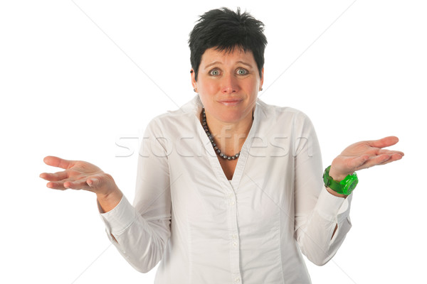 Stock photo: Really don't know