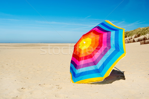 Parasol at the beach Stock photo © ivonnewierink