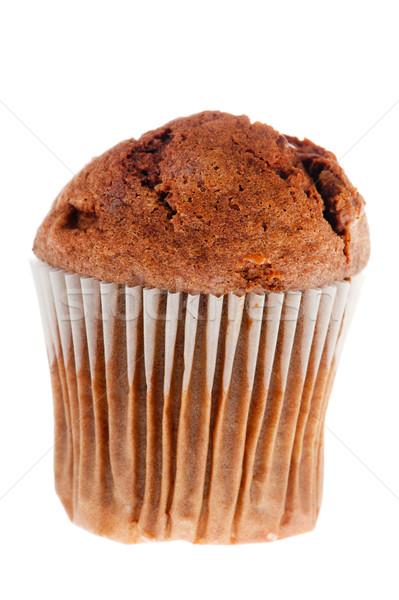 Pure chocola muffin donkere papier witte voedsel Stockfoto © ivonnewierink