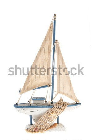 Old Dutch sail boat Stock photo © ivonnewierink