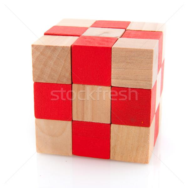 Wooden puzzle Stock photo © ivonnewierink