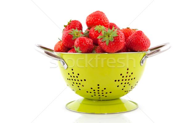 colander with strawberries Stock photo © ivonnewierink