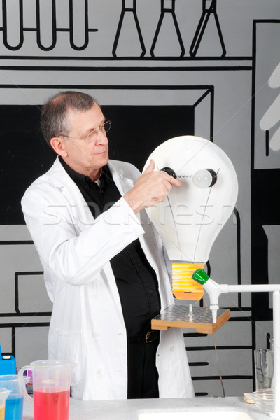 Professor is testing electricity Stock photo © ivonnewierink