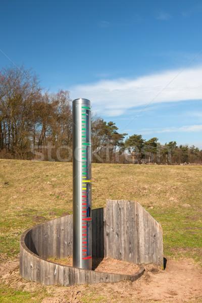 Agua altura medición herramienta naturaleza Foto stock © ivonnewierink