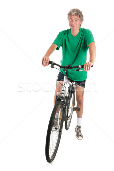 Man on bike in studio Stock photo © ivonnewierink