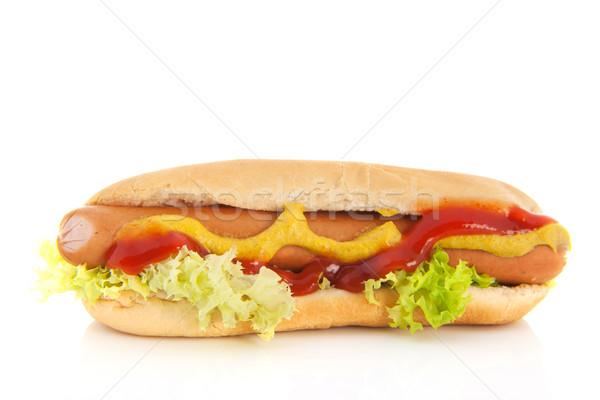 Hotdog brood rollen geïsoleerd witte voedsel Stockfoto © ivonnewierink