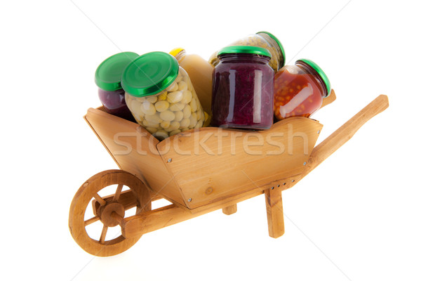 wheel barrow preserved vegetables Stock photo © ivonnewierink