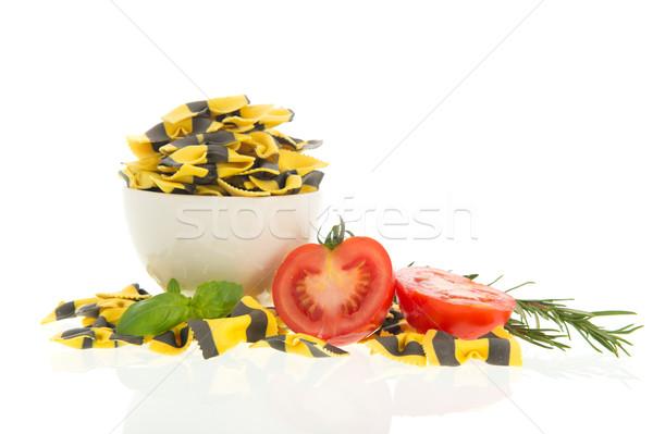 Butterflies pasta and ingredients Stock photo © ivonnewierink