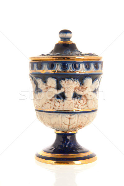 Stock fotó: Antik · görög · váza · izolált · fehér