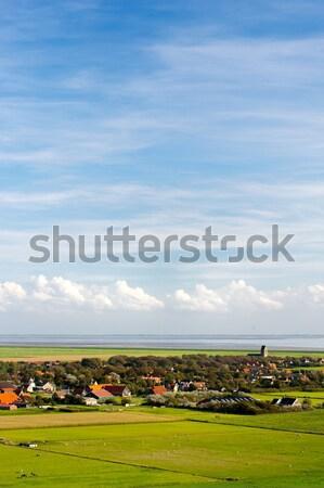 Landscape From Dutch wadden island Stock photo © ivonnewierink