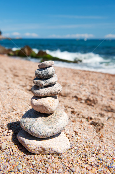 Pile of stacked stones Stock photo © ivonnewierink