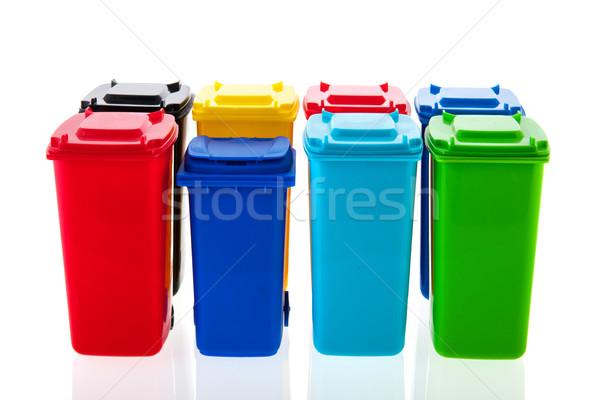 Rouler isolé blanche différent couleurs recyclage Photo stock © ivonnewierink