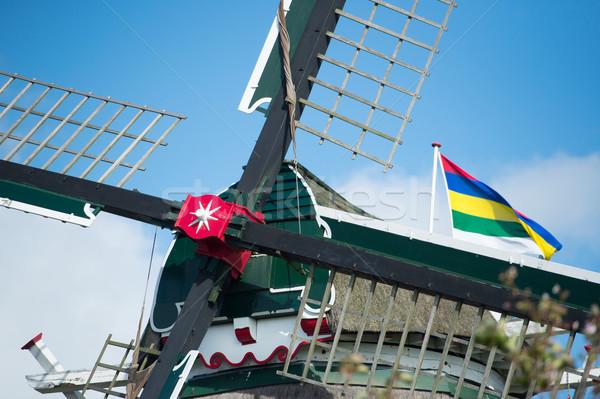 Detail windmill at Dutch wadden island Terschelling Stock photo © ivonnewierink