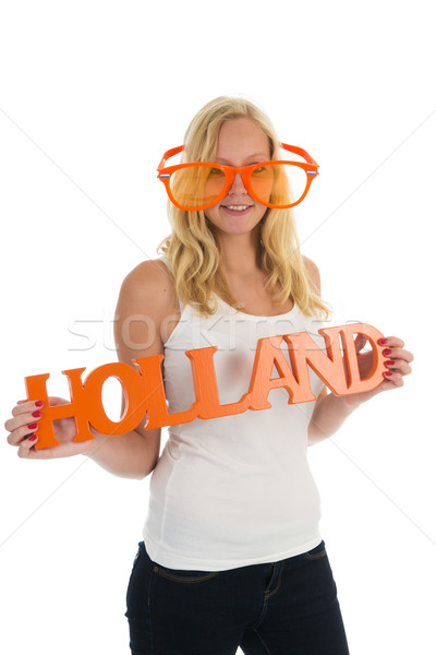 Supporter for Holland Stock photo © ivonnewierink