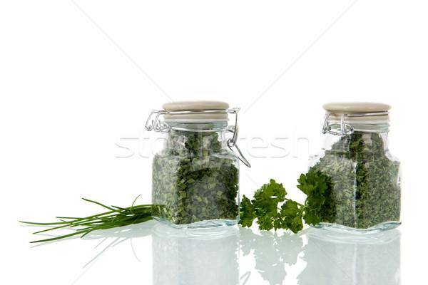 Dried kitchen herbs Stock photo © ivonnewierink
