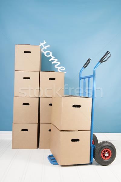Eltávolítás ház dobozok belső otthon teherautó Stock fotó © ivonnewierink