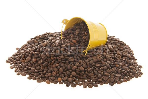 куча кофе мало ковша изолированный белый Сток-фото © ivonnewierink