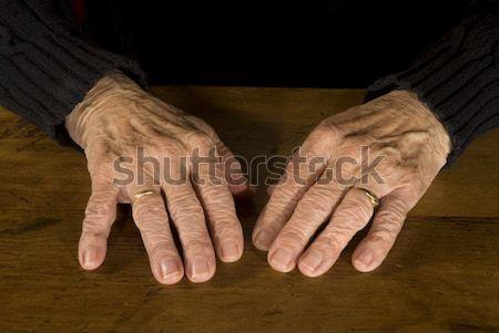 古い 手 男 木材 高齢者 ストックフォト © ivonnewierink