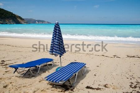 ビーチ 青 空っぽ 風景 海 海 ストックフォト © ivonnewierink