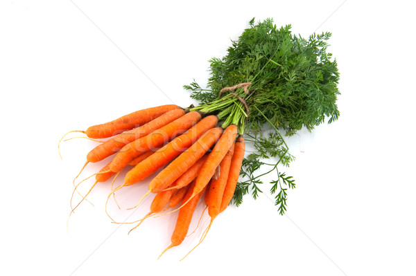 Stock photo: Bunch of carrots