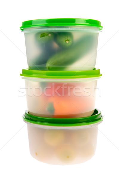 свежие коробки холодильник морозилка продовольствие фон Сток-фото © ivonnewierink
