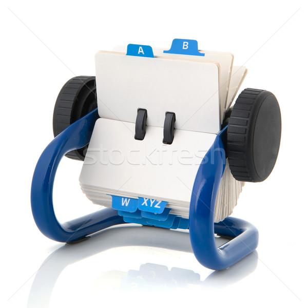 Alfabetico carta blu metal comunicazione bianco Foto d'archivio © ivonnewierink