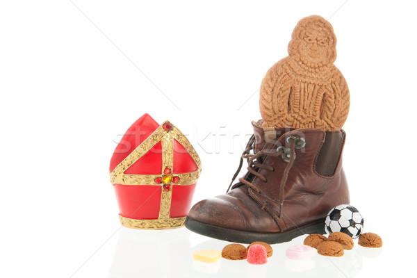 Shoe with Dutch Sinterklaas candy Stock photo © ivonnewierink