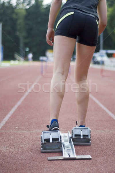 taking hurdles Stock photo © ivonnewierink