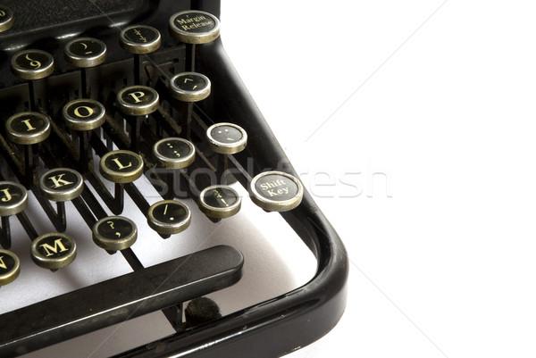 Részlet írógép öreg antik papír technológia Stock fotó © ivonnewierink