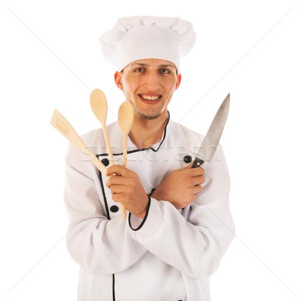 Cuoco utensile da cucina legno coltello alimentare Foto d'archivio © ivonnewierink