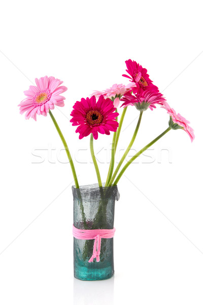 Gerber flowers in vase Stock photo © ivonnewierink