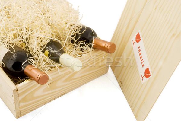 box with wine Stock photo © ivonnewierink