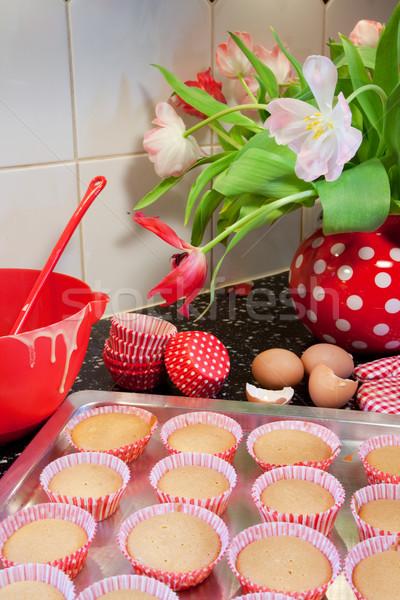 Baking fancy cakes Stock photo © ivonnewierink