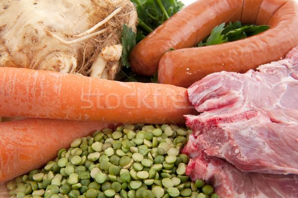 Ingredients Dutch pea soup Stock photo © ivonnewierink