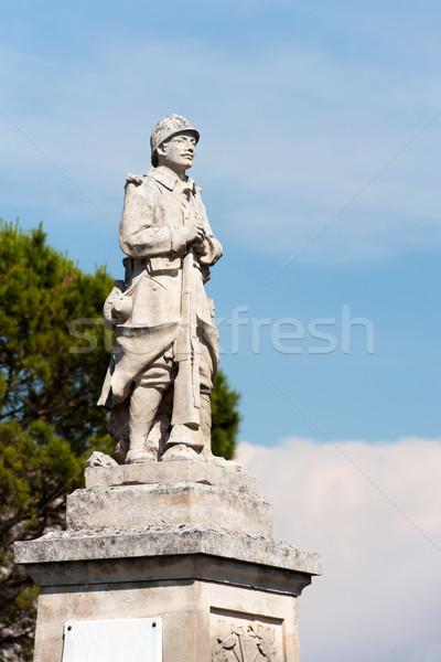 Francuski wojny posąg Europie Zdjęcia stock © ivonnewierink