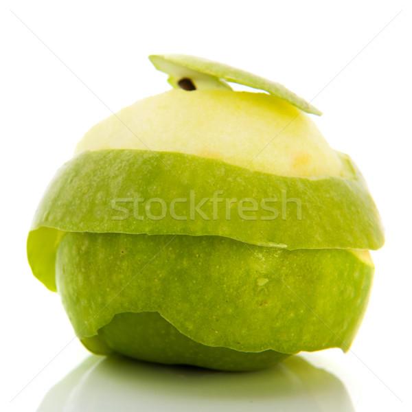 Peeling green apple Stock photo © ivonnewierink