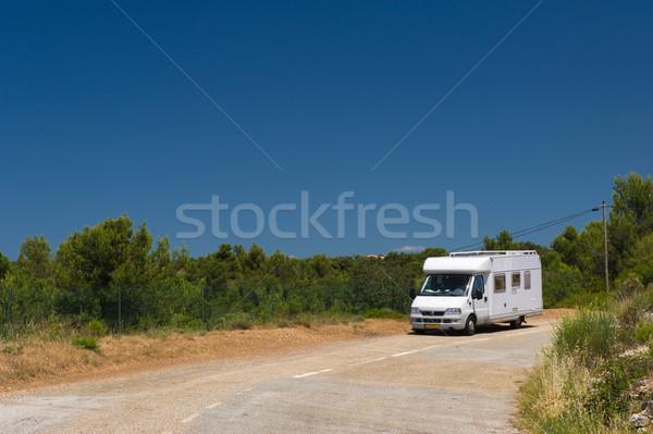 mobil home in France landscape Stock photo © ivonnewierink
