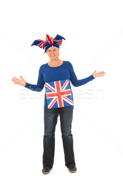 Brittain sports fan Stock photo © ivonnewierink
