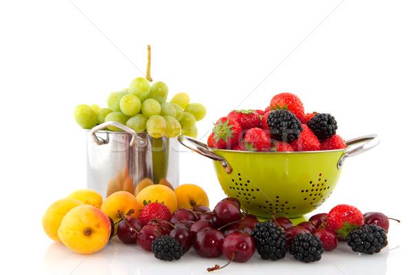 Stok fotoğraf: Meyve · çeşitlilik · çilek · üzüm · kiraz · erik