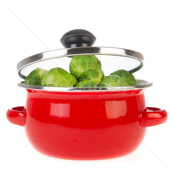 Brüsszel piros serpenyő étel természet növény Stock fotó © ivonnewierink