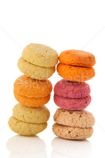 Colorful French macaroons Stock photo © ivonnewierink