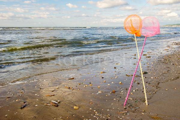 Fishing nets at the sea Stock photo © ivonnewierink