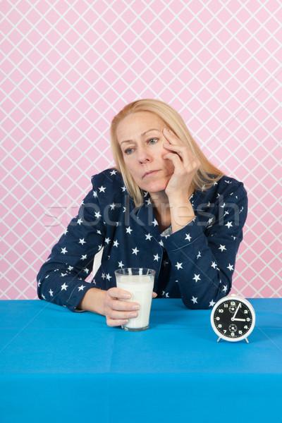 Woman with insomnia Stock photo © ivonnewierink