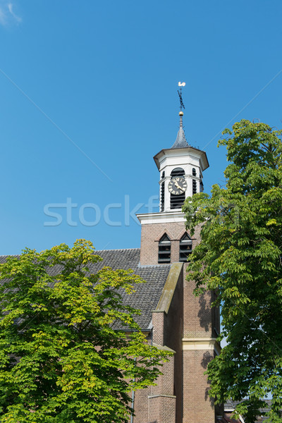 Dutch church tower Stock photo © ivonnewierink