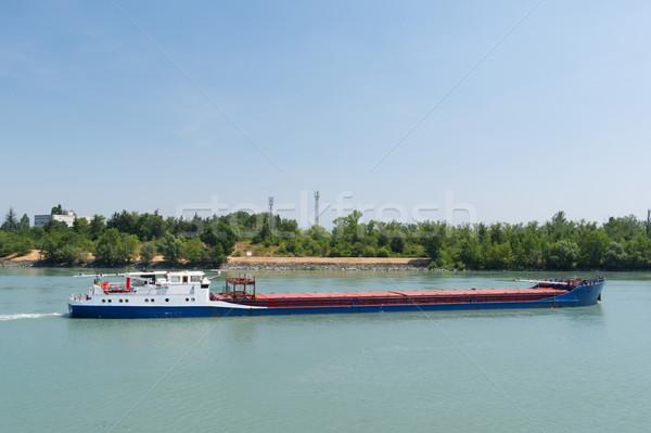 Vervoer industriële boot rivier landschap Europa Stockfoto © ivonnewierink