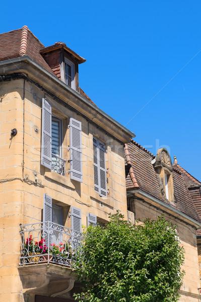 Detay fransız ev tipik balkon Stok fotoğraf © ivonnewierink