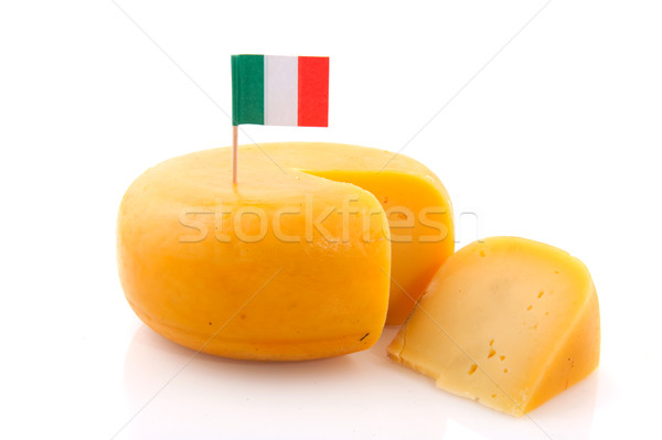 Ensemble fromages Italie jaune grand drapeau italien Photo stock © ivonnewierink