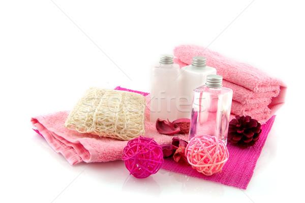 Kosmetyki matka kąpieli ciało różowy Zdjęcia stock © ivonnewierink