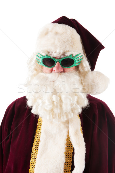 Portrait Santa Claus with sunglasses Stock photo © ivonnewierink