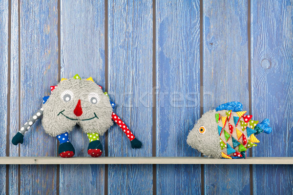 Stuffed funny fish and fantasy toy at home Stock photo © ivonnewierink